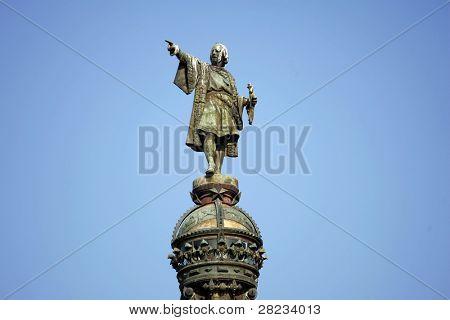 Cristobal Colon Statue in Barcelona