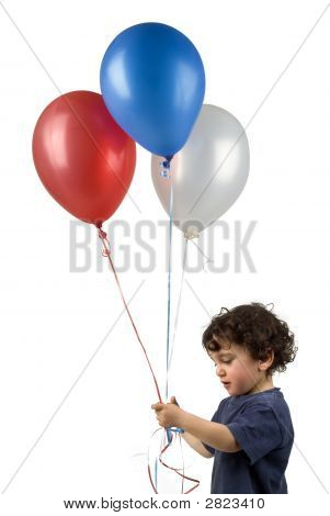 Little Boy 3 Balloons