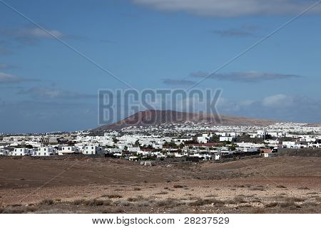 Village On Canary Island Lanzarote