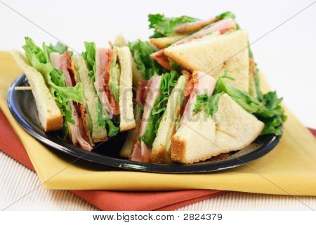 Cutted Sandwich  With Toothpick