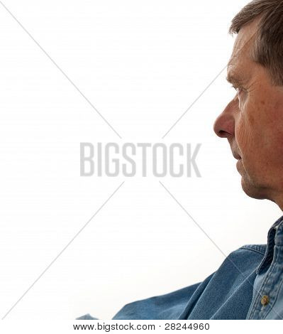 Senior Male Profile Isolated