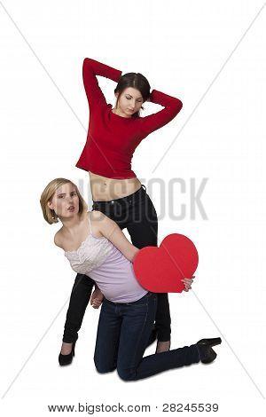 Valentine Girls With Heart