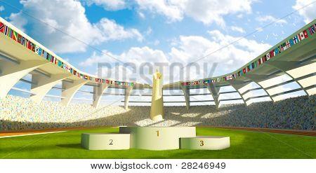 Stadium With Podium