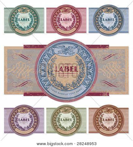 vintage labels set (vector)
