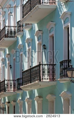 Iron Railings On Historic Caribbean Apartments