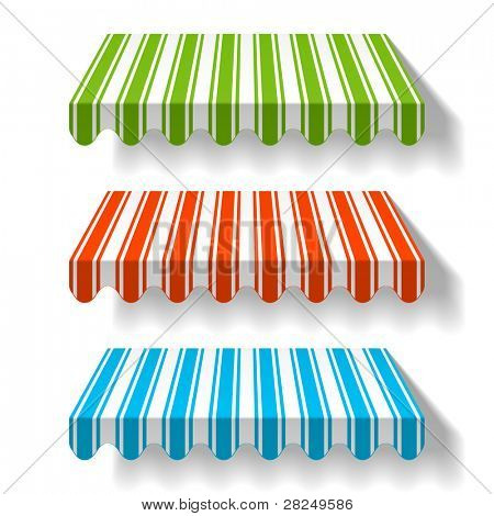 Colored awning. Vector.