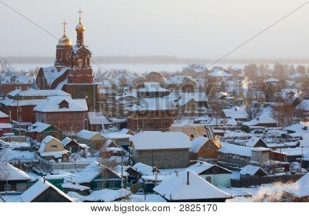 Winter Siberian Town