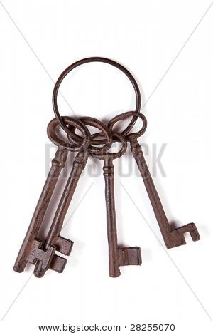 Cast iron keys on a ring.