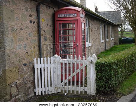 Abandoned And Forgotten Old Red Telephone Box