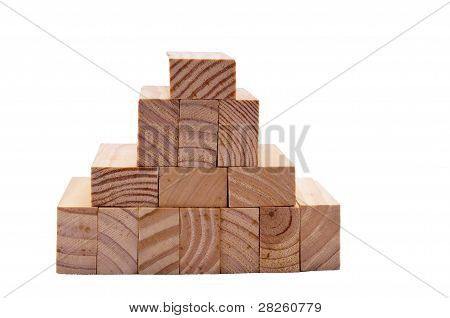 Wooden block make a small roof shape