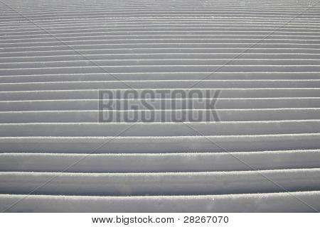 Groomed ski track