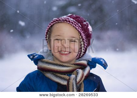 verschneiten Tag