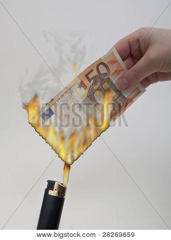 Euros burning
