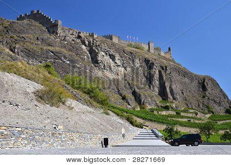 The Tourbillon Castle, Sion In Switzerland