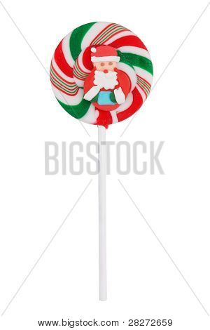 Lollipop With Santa Claus