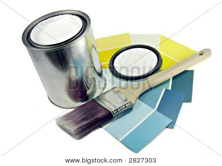 Paint, Brush And Color Samples