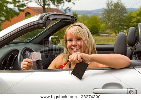 Young Woman Happy About Her New Drivers License