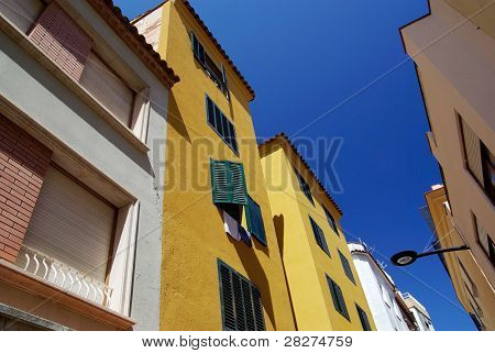 Bright Architecture Of Small Lloret De Mar City. Costa Brava, Spain.