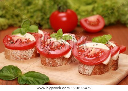 Fingerfood With Mozzarella