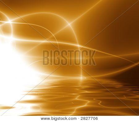 Dance Of Lights Over Water