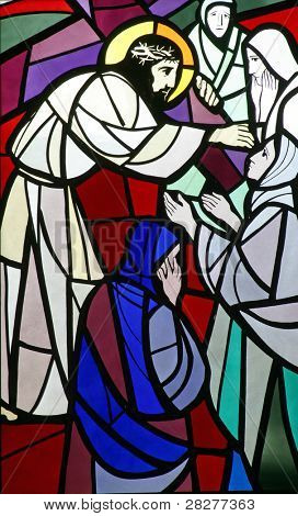 8th Stations of the Cross, Jesus meets the daughters of Jerusalem