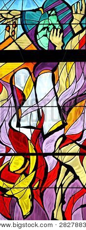 Moses, stained glass