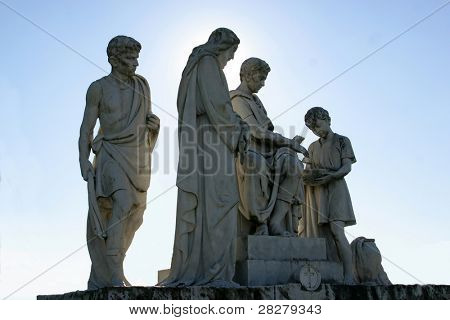 1st stations of the cross, Jesus is condemned to death, Pontius Pilate washes his hands