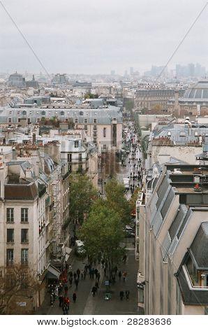 View of a Parisian street