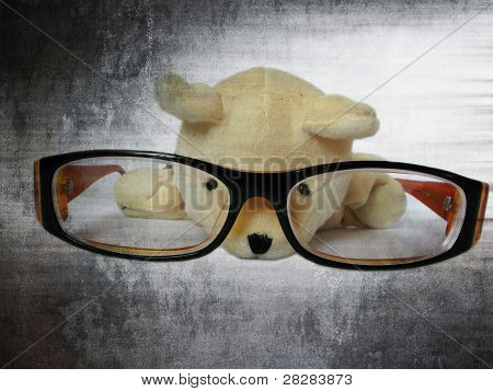 Glasses with cute dog