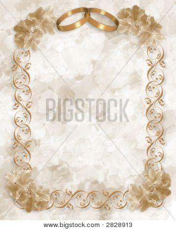 Anéis de casamento convite ouro