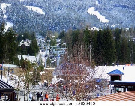 Ski Resort At Whistler Mountain
