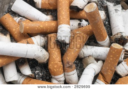 Background Of Cigarette Butts