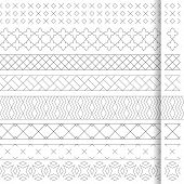 Set Of Vector Geometrical Dividers. Borders For The Text, Invitation Cards, Various Printing Edition poster