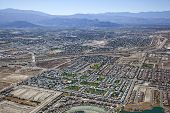 stock photo of snowbird  - Large RV Resort and aerial view of Indio California - JPG