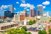 Tulsa, Oklahoma, USA downtown city skyline  in the afternoon. poster