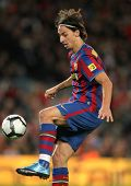 BARCELONA - NOVEMBER 7: Swedish FC Barcelona striker Zlatan Ibrahimovic during Spanish league match