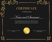 Creative Certificate, Diploma. Frame For Diploma, Certificate. Certificate Template With Elegant Bor poster