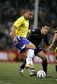 BARCELONA, SPAIN - MAY. 25: Brazilian player Ronaldo in action during the friendly match between Cat