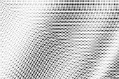 Black Dots On White Background. Smooth Perforated Surface. Contrast Halftone Vector Texture. Diagona poster