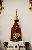 stock photo of por  - Beautiful black Buddha statue at Dhammamongkol temple of Thailand by Luang - JPG
