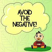 Word Writing Text Avoid The Negative. Business Concept For Asking Someone To Go For Positive Actions poster
