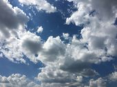 Beautiful Blue Sky With Clouds Background. Sky Clouds. Sky With Clouds Weather Nature Cloud Blue. Bl poster