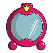 Princess Mirror Icon. Cartoon Illustration Of Princess Mirror Icon For Web Design poster