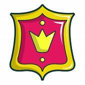Princess Emblem Icon. Cartoon Illustration Of Princess Emblem Icon For Web Design poster