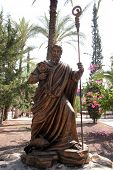 The statue of Saint Peter at Capharnaum, Israel