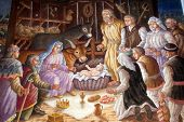 stock photo of manger  - A nativity scene - JPG