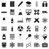Laboratory Icons Set. Simple Style Of 36 Laboratory Icons For Web Isolated On White Background poster