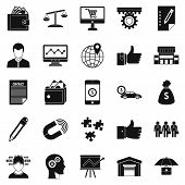 Business Start Up Icons Set. Simple Set Of 25 Business Start Up Icons For Web Isolated On White Back poster