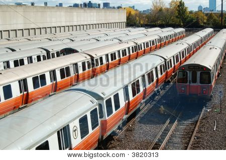 The Orange Line Of The Boston Transit Authority