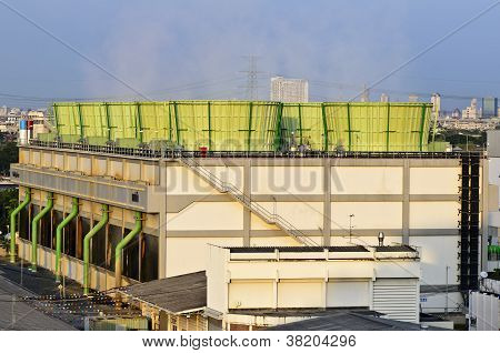 The Cooling Tower Of Combined-cycle Power Plant